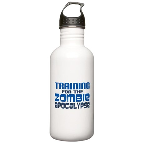 Training for Zombie Apocalypse Water Bottle