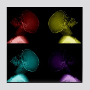 Pop Art Skulls Tile Coaster
