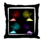 Pop Art Skulls Throw Pillow
