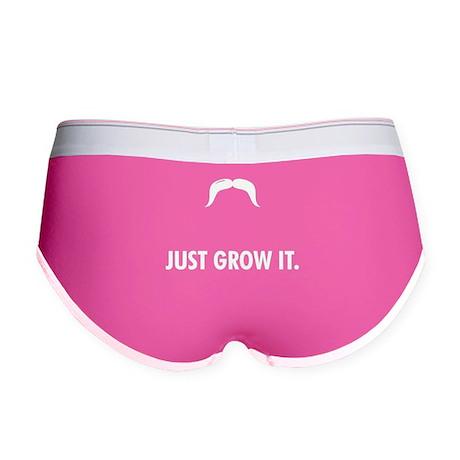 Grow A Mustache Women's Boy Brief