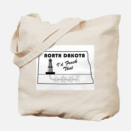 Frack the Bakken Tote Bag