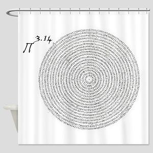 pi 3.14 art Shower Curtain