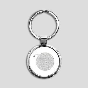 pi 3.14 art Round Keychain