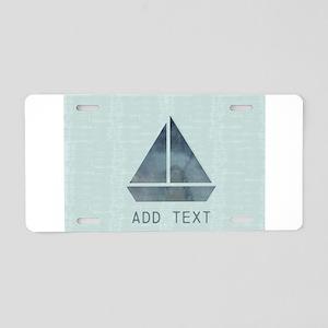 Custom Add Text Cute Sailor Aluminum License Plate