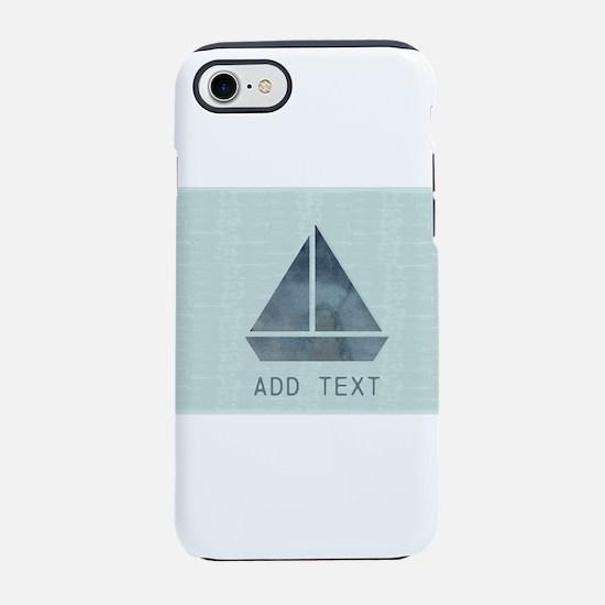 Custom Add Text Cute Sailor iPhone 7 Tough Case