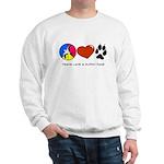 Sweatshirt - Peace Love & Muddy Paws