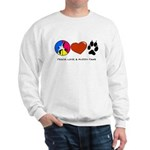 Sweatshirt - Peace Love & Muddy Paws