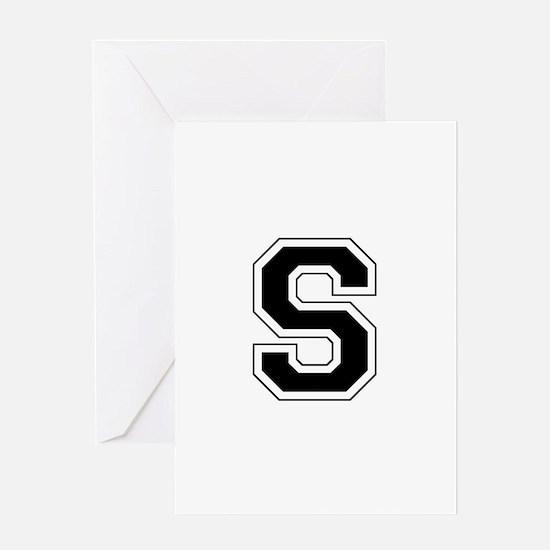 Collegiate Monogram S Greeting Card