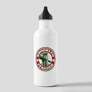 Brooklyn New York Italian Water Bottle