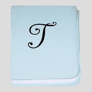 A Yummy Apology Monogram T baby blanket