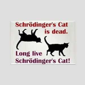 Schrodingers Cat Rectangle Magnet