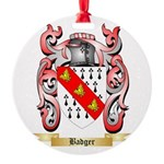 Badger Round Ornament