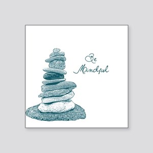 Be Mindful Cairn Rocks Sticker