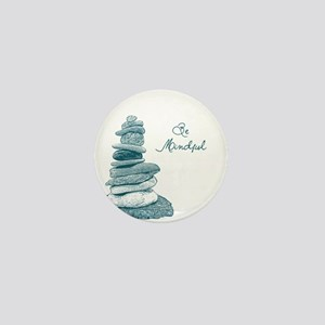 Be Mindful Cairn Rocks Mini Button