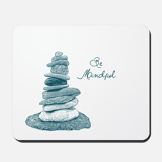 Be Mindful Cairn Rocks Mousepad