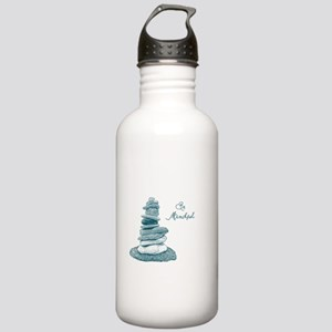Be Mindful Cairn Rocks Water Bottle