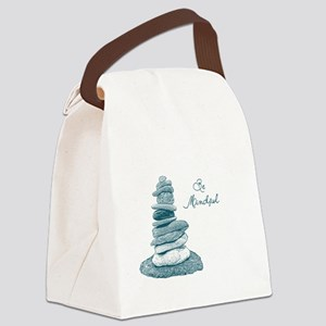 Be Mindful Cairn Rocks Canvas Lunch Bag