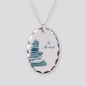 Be Mindful Cairn Rocks Necklace