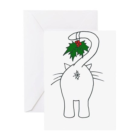 Season's Greetings From Our Cat Greeting Card