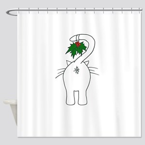 Season's Greetings From Our Cat Shower Curtain