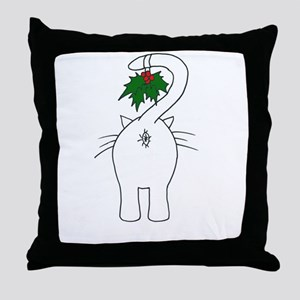 Season's Greetings From Our Cat Throw Pillow