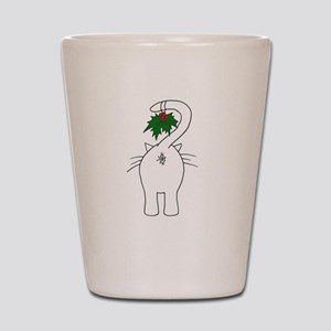 Season's Greetings From Our Cat Shot Glass