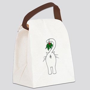 Season's Greetings From Our Cat Canvas Lunch Bag