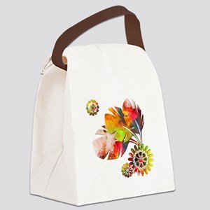 Painted Natural Canvas Lunch Bag