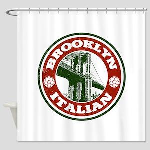 Brooklyn New York Italian Shower Curtain