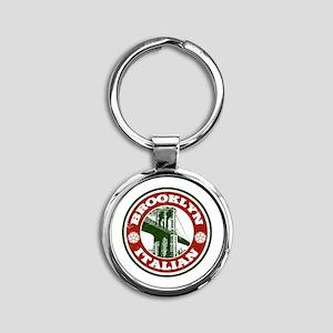 Brooklyn New York Italian Round Keychain