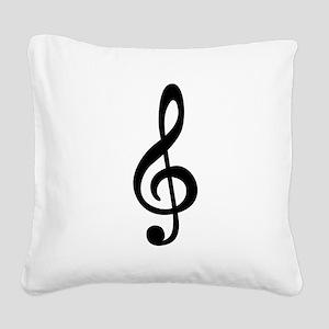 Treble Clef Square Canvas Pillow
