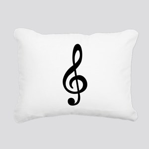 Treble Clef Rectangular Canvas Pillow