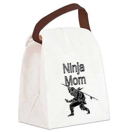 Ninja Mom Canvas Lunch Bag