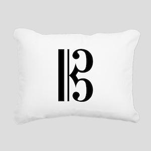 Alto Clef Rectangular Canvas Pillow