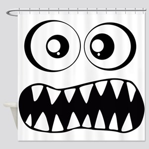 Monster Grin Shower Curtain