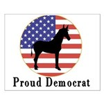 Proud Democrat Small Poster