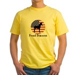 Proud Democrat Yellow T-Shirt