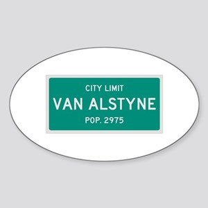 Van Alstyne, Texas City Limits Sticker