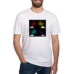 Pop Art Skulls Fitted T-Shirt