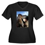 Funny Horse Cafe-MaDCoLT Smile Plus Size T-Shirt
