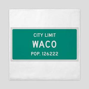 Waco, Texas City Limits Queen Duvet