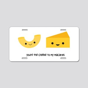 Macaroni and Cheese Aluminum License Plate