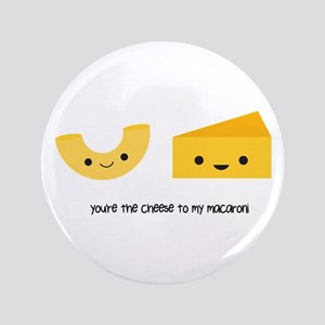 "Macaroni and Cheese 3.5"" Button"