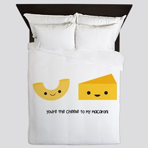 Macaroni and Cheese Queen Duvet