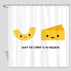 Macaroni and Cheese Shower Curtain