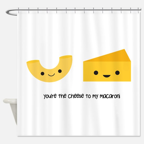 Macaroni and Cheese Shower Curtain