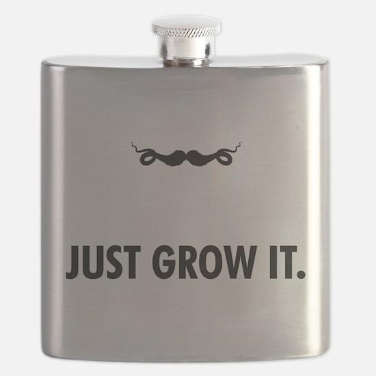 Grow A Mustache Flask