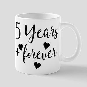 5th Anniversary Couples Gift Mugs