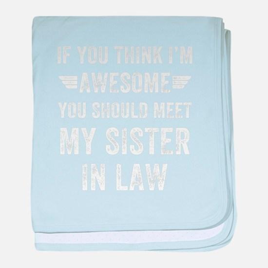Cute Sister law baby blanket