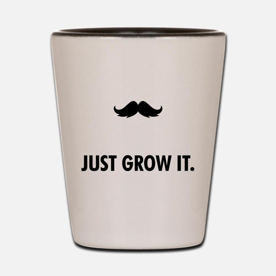 Grow A Mustache Shot Glass